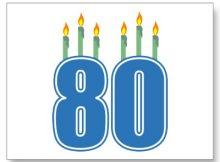 Frases de cumpleaños 80