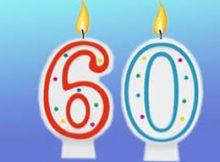 Frases de cumpleaños para 60 años
