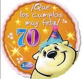 Frases de cumpleaños para 70 años