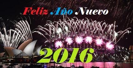 Feliz Año nuevo 2016, mensajes de felicitación